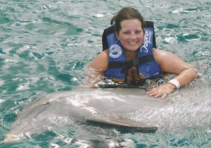 me swimming with dolphin