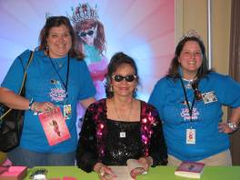 Melanie, Jill, Me- getting our books signed
