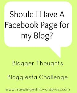should I have a Facebook page for my blog bloggiesta