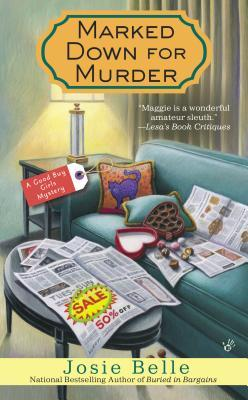 marked down for murder by josie belle #cozy #TravelingWithT #FuturisticFriday