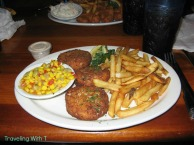 Crab Cakes at Back Porch with watermark