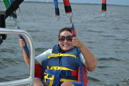 Getting ready to Parasail at Discount Water Sports