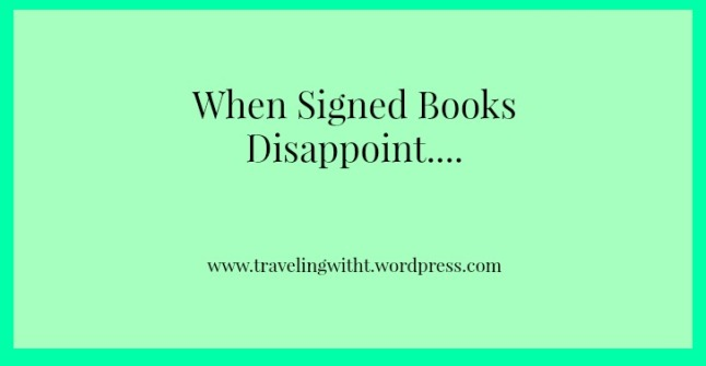 when signed books disappoint