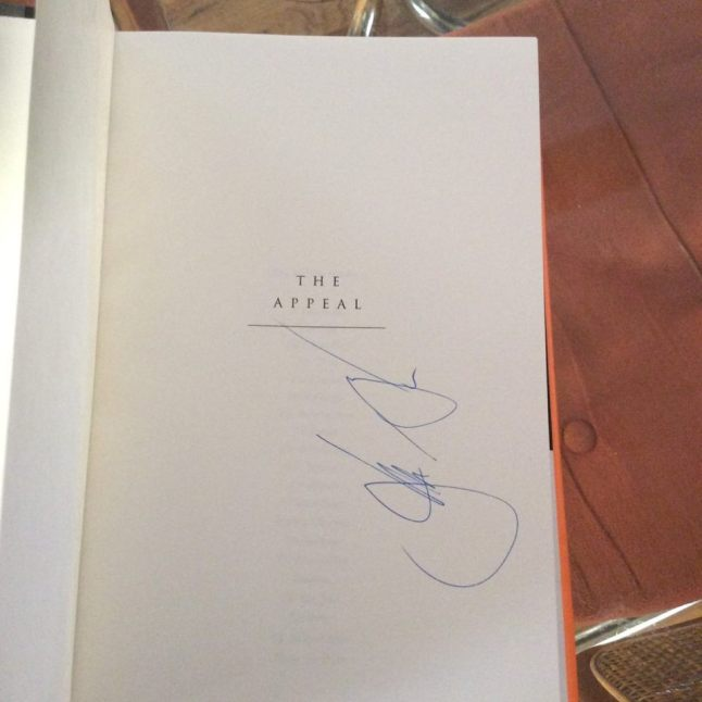 how NOT to sign a book john grisham