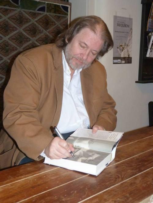 Rick Bragg signing book