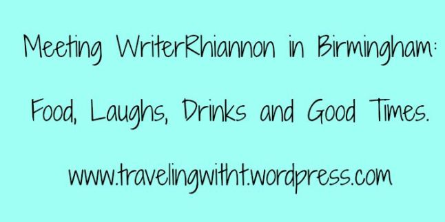 meeting writerrhiannon in birmingham