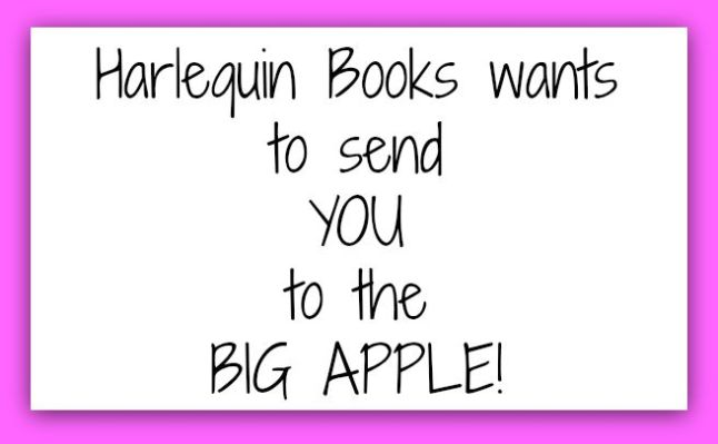 harlequin books wants to send you to the big apple
