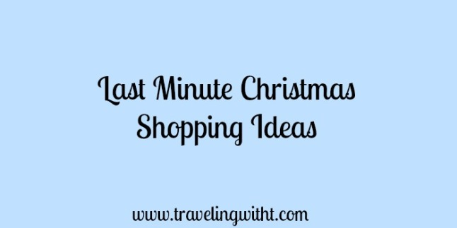 last minute christmas shopping ideas