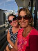 me and mom on dolphin cruise