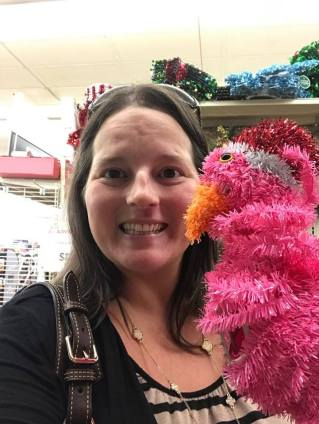 me with flamingo
