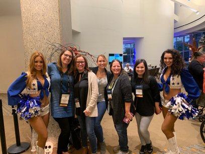 Dallas Cowboy cheerleaders, Vanessa, Kristin, Candice, Me, Sonica